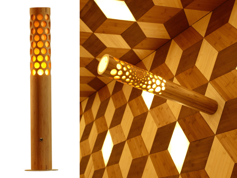 LED Bamboo Lamp by Jeff Dah-Yue She