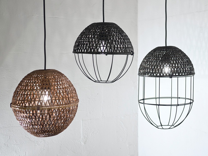 "'POP"" bamboo lampshades by Studio Ljung & Ljung"