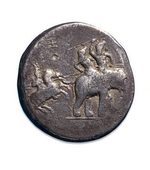 Silver Decadrachms_Alexander_portrayed_1