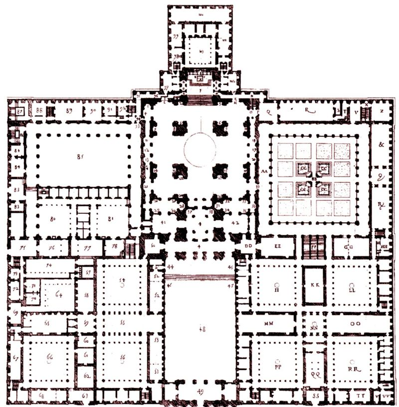 El Escorial_palace_monastery_plan