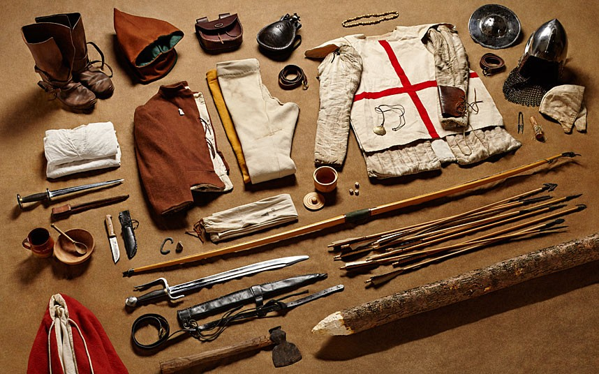 Longbowman gear, Battle of Agincourt (1415)