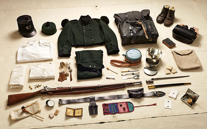 Rifle Brigade gear, Battle of Alma (1854)