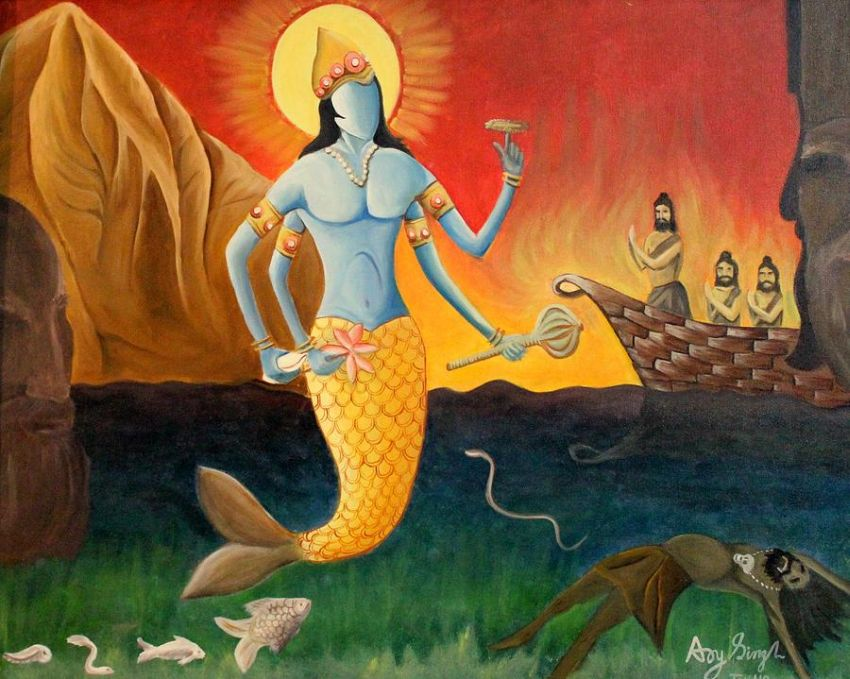 Matsya_Indian Mythology