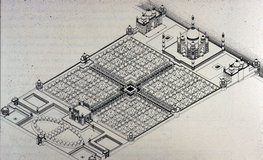 Tajmahal_Plan - 6 Amazing Facts You May Not Know About The Taj Mahal