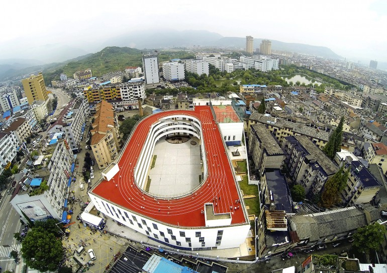 China_Tiantai_Primary School_running track_3