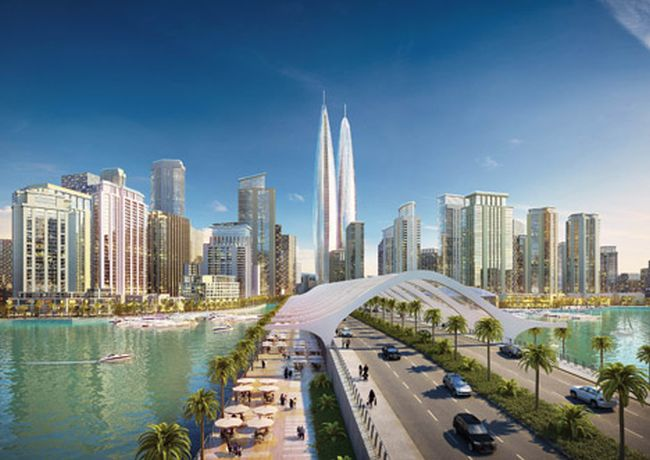Dubai-Creek-Harbour-world_tallest_twin_towers_2