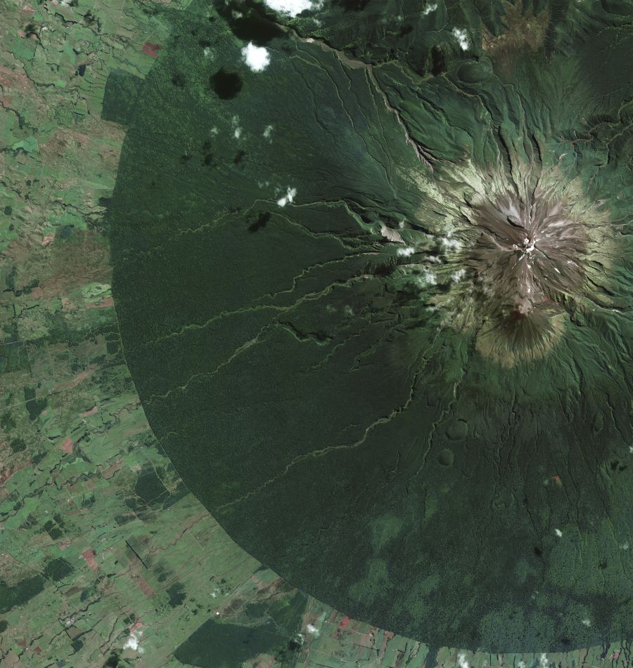 Egmont National Park Satellite Image_1