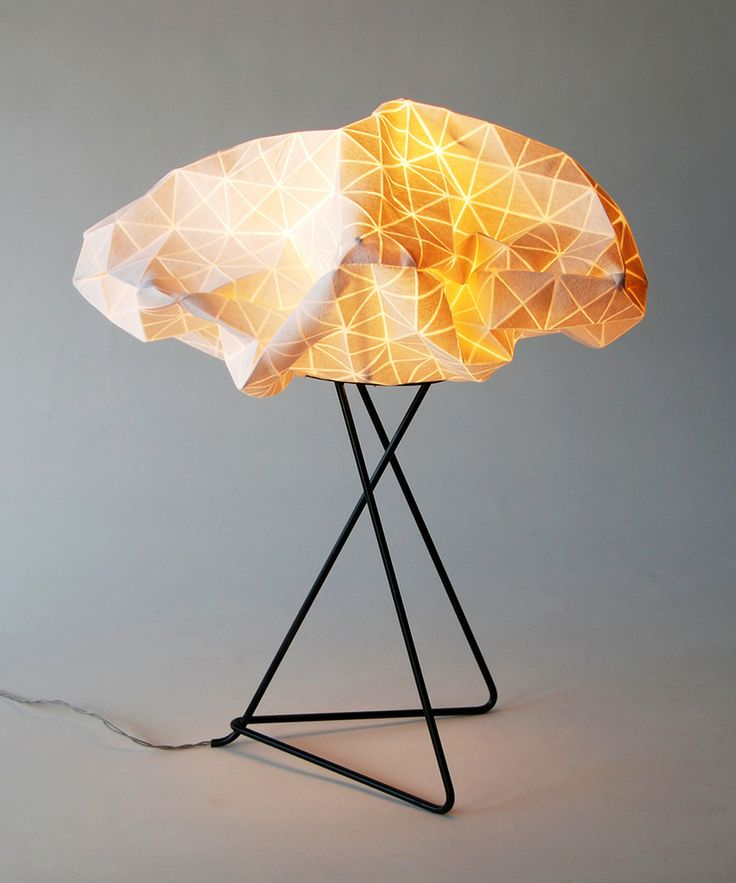 Origami Table Lamp by Mika Barr