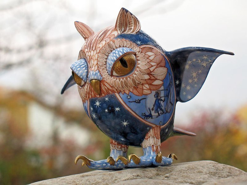 Porcelain Animal Sculptures--11