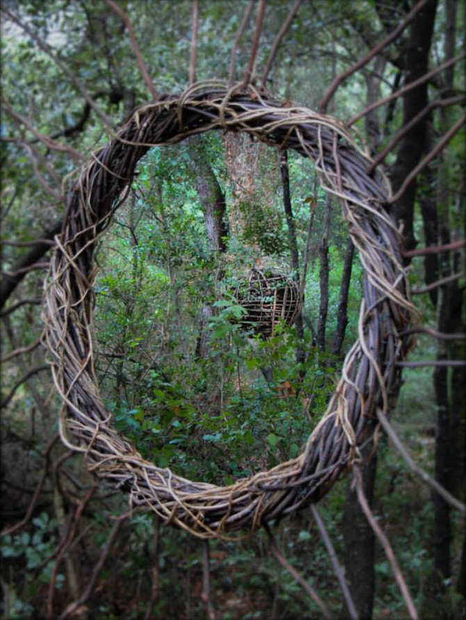 Spencer Byles Cryptic Man Made Sculptures Within Forests