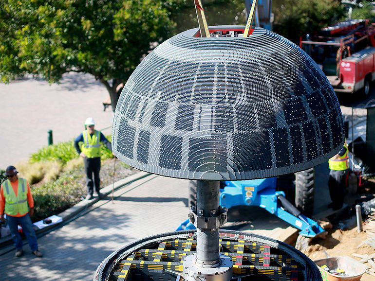 13-ft High Star Wars LEGO Death Star