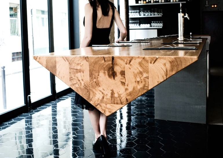 Cantilever Wooden Counter by Atelier JMCA-2