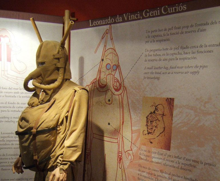 Leonardo da Vinci_Inventions_ Diving Suit