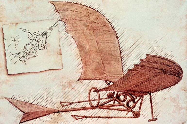 Leonardo da Vinci_Inventions_Flying_machine