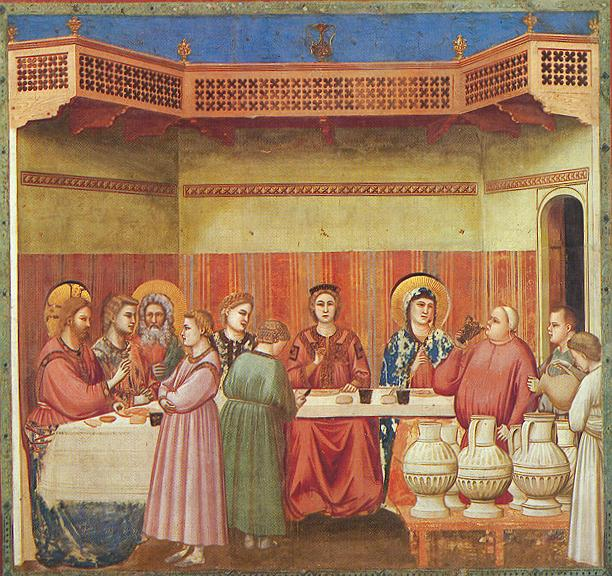 Marriage at Cana by Giotto.