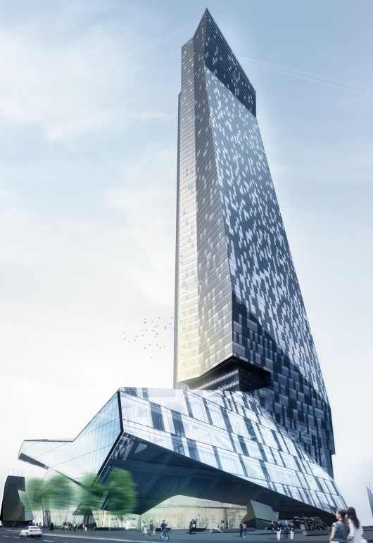 Hanking Center Tower By Morphosis Architects