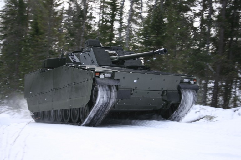 BAE Systems' CV90 Features F1 Racing Suspension-2