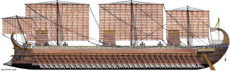 Tessarakonteres_warship_Greek_hi-tech-weapon_history_2