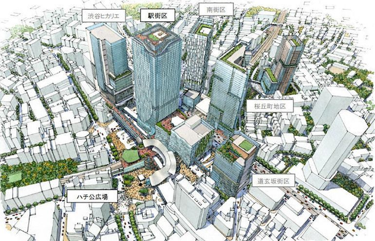 Plans for a new skyscraper in Tokyo's Shibuya district-3