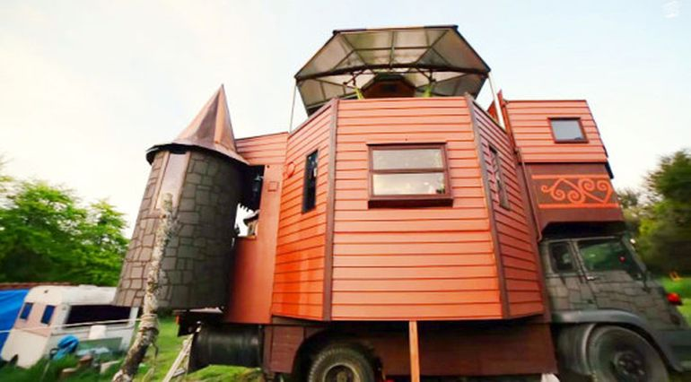 Transforming Castle Truck: The Whimsical Face of Tiny Living