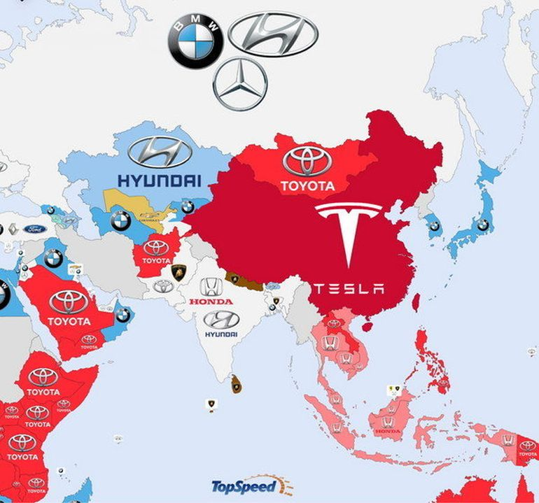 Detailed Infographic Shows World's Most-Searched Carmakers-7
