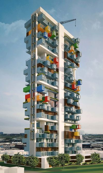 Skyscraper, Built Using Shipping Containers, For Slum Dwellers-2