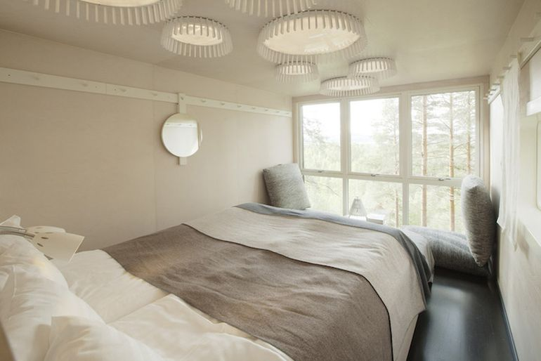Swedish Hotel Features Bird's Nest And UFO-Shaped Cabins-6