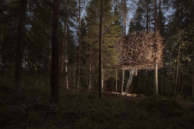 Swedish Hotel Features Bird's Nest And UFO-Shaped Cabins-7