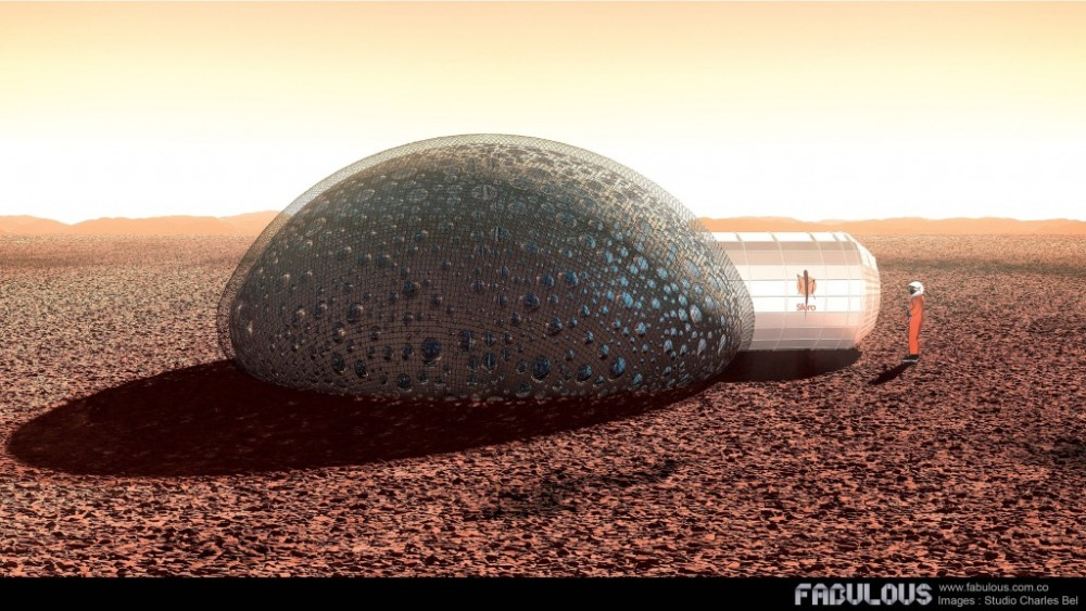 3D-Printed Sfero Domes Envisioned As Potential Mars Habitats-1