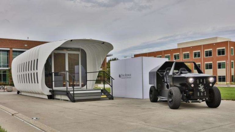 AMIE A 3D-Printed House That Runs On A Car-Based Generator-1