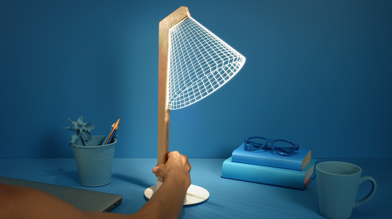 The Stunning 3D Optical Illusions Of The New BULBING Lamps-4