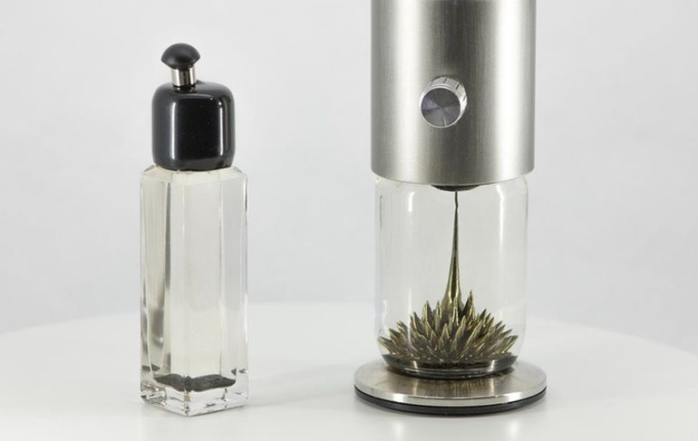 Watch The Ferrofluid Dance Around Inside This Interactive Sculpture-4