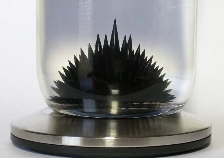 Watch The Ferrofluid Dance Around Inside This Interactive Sculpture-9