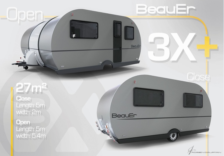 3X An Innovative, Expandable Teardrop Trailer By Beauer-6