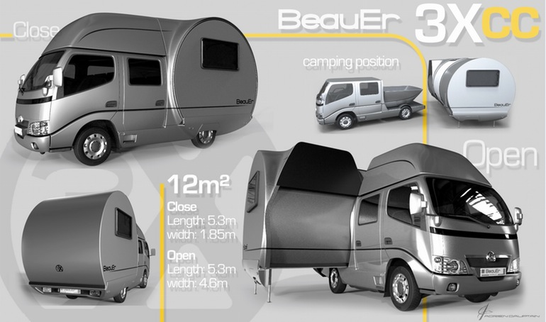 3X An Innovative, Expandable Teardrop Trailer By Beauer-8