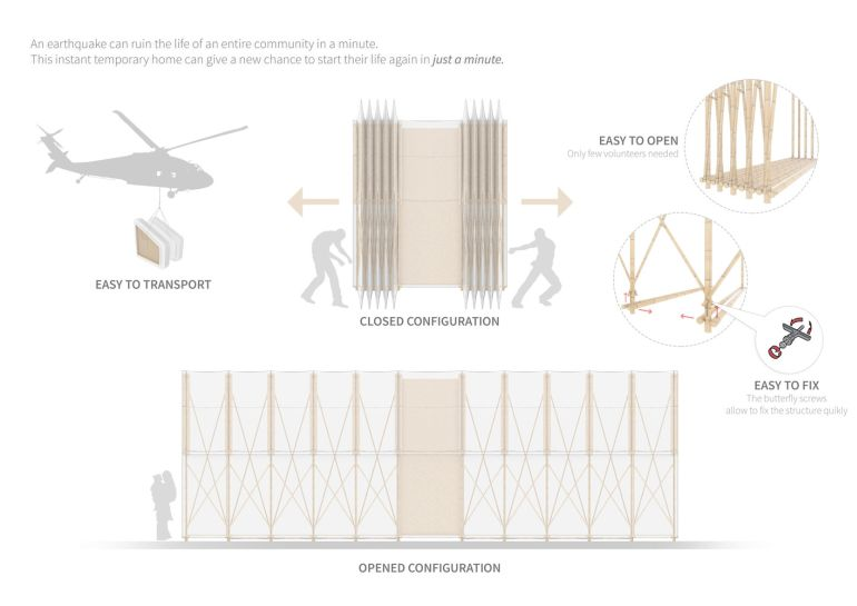 Architects Design Pop-Up Home For Nepal Earthquake Victims-3