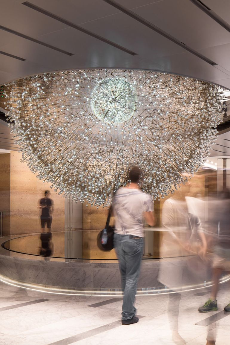 Lucent A Stunning Sculpture Made Up Over 3,000 Glass Orbs-4