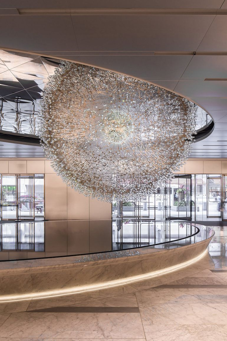 Lucent A Stunning Sculpture Made Up Over 3,000 Glass Orbs-5