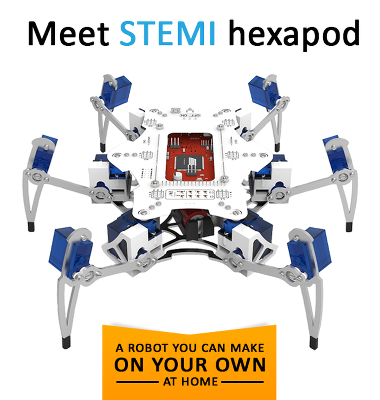 STEMI A Hexapod Robot That Can Be Built By A 13-Year-Old!-1