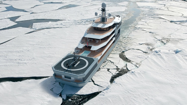 SeaXplorer A $150 Million Yacht That Can Gash Through Icebergs-3