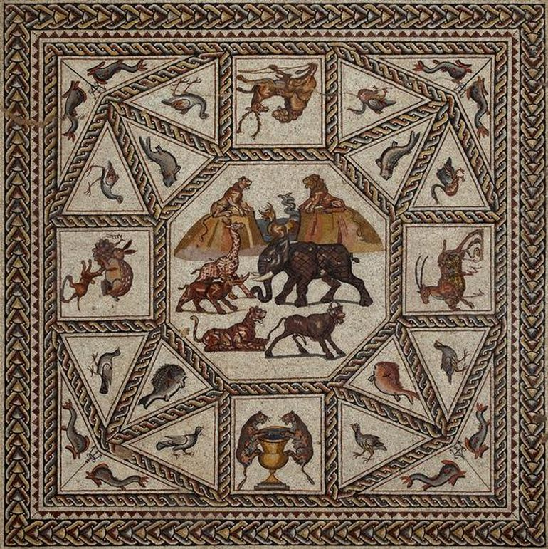 Archaeologists Unveil 1,700-Year-Old Ornate Mosaic In Israel-3