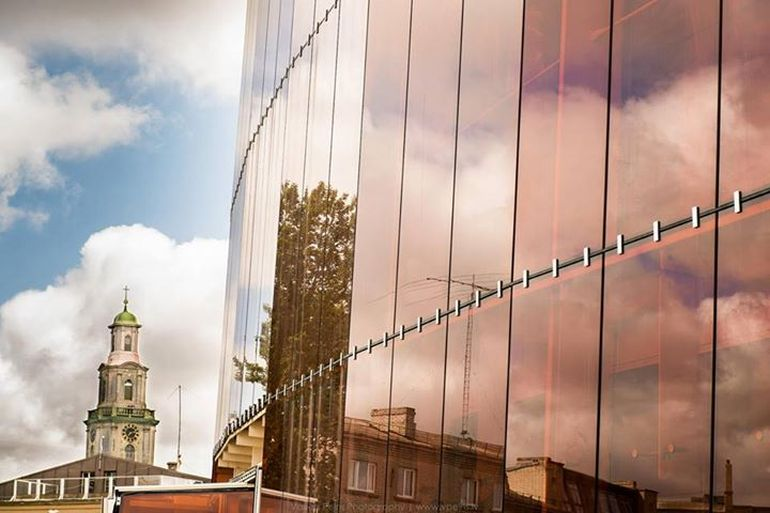 Latvia's Stunning Amber Glass-Lined Great Concert Hall-10