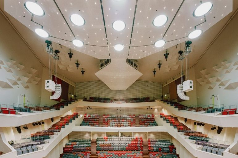Latvia's Stunning Amber Glass-Lined Great Concert Hall-4