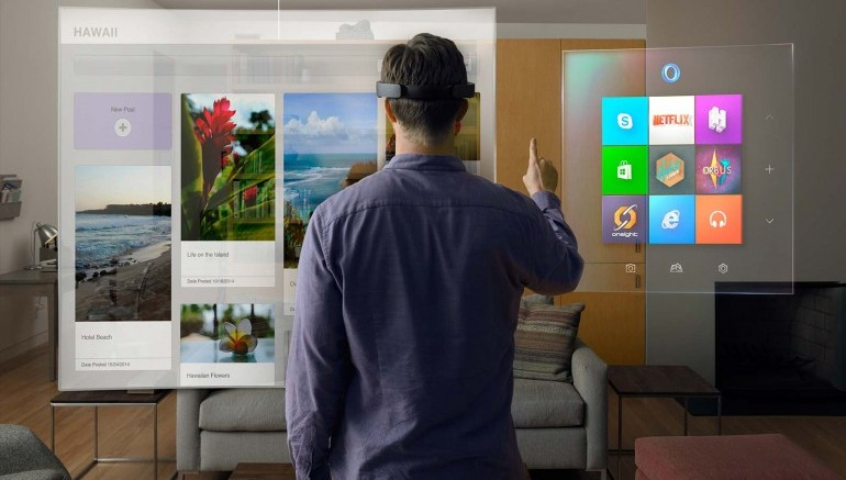 Microsoft's HoloLens augmented reality (AR) technology