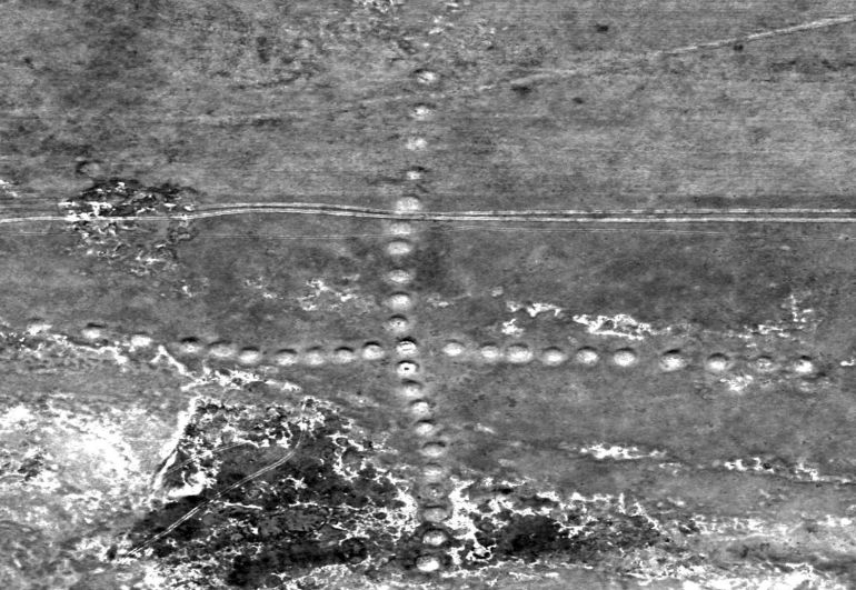 NASA Captures Images Of Ancient Geoglyps in Kazakhstan-2