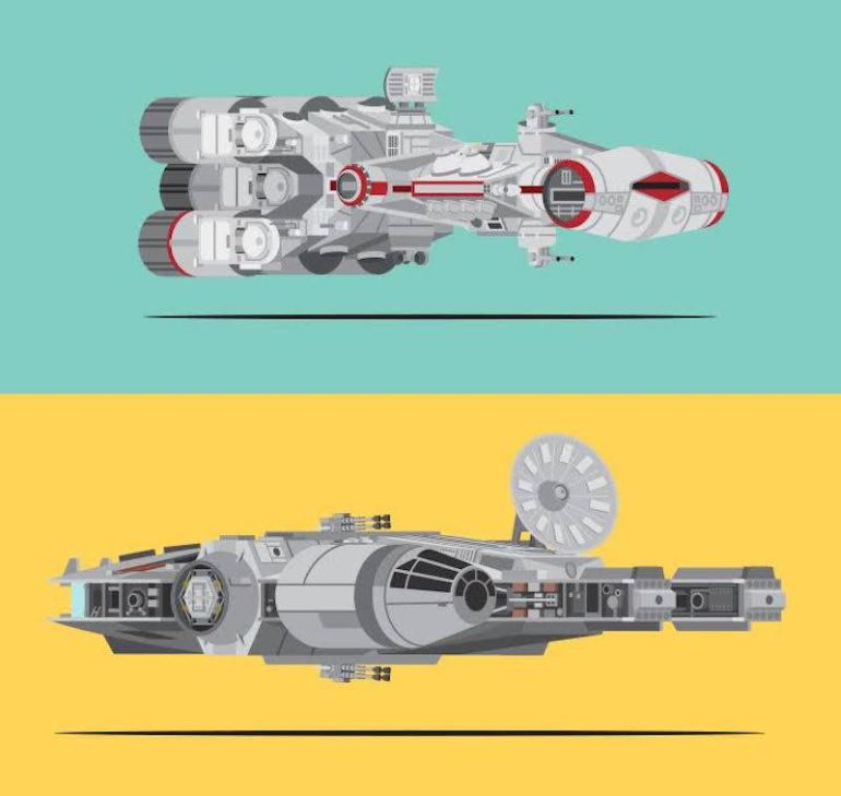 Star Wars Poster Shows All The Vehicles Used In The Original Trilogy-4