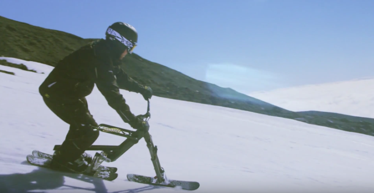 The New SNOGO Bike Combines Skiing And Mountain Biking-11