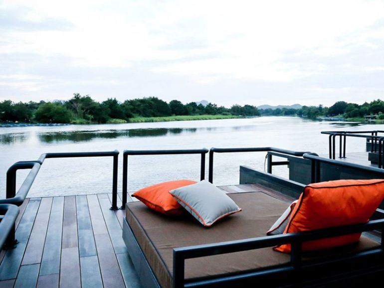 These Floating Cabins Overlook The River Kwai In Thailand-11
