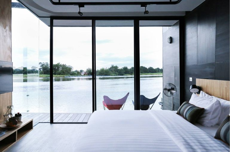 These Floating Cabins Overlook The River Kwai In Thailand-5