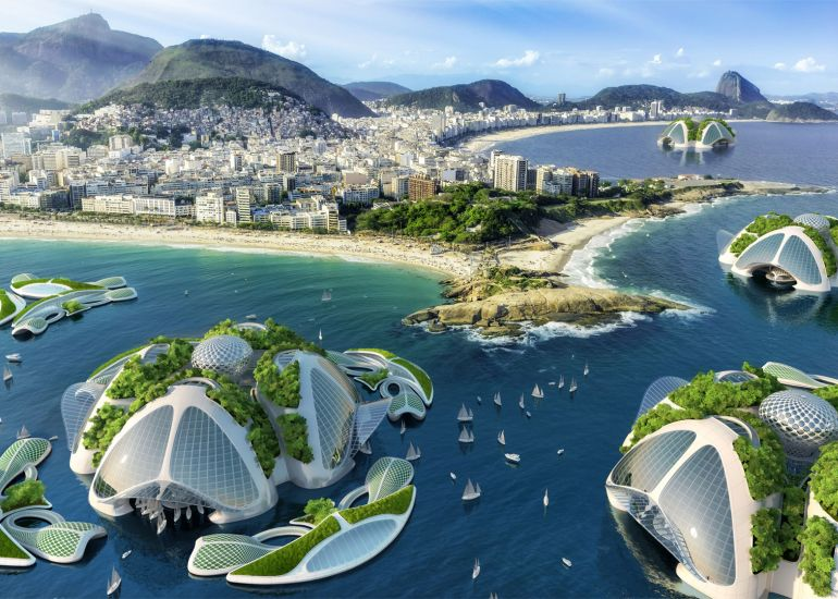 Architect Envisions Future Underwater City Built From 3D-Printed Waste-